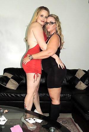 Lesbian sisters having fun when no one around Lesbian